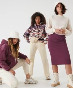 Sinsay - Fustă din jerseu de tricot striat - Violet