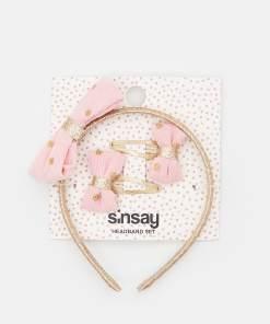 Sinsay - Set cu agrafe de păr și cordeluță - Roz