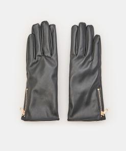 Sinsay - Mănuși din piele ecologică - Negru