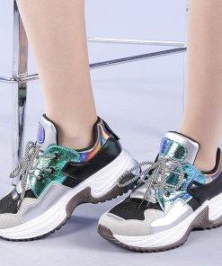 Pantofi sport dama Valentyna argintii