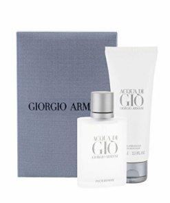 Set cadou Giorgio Armani Acqua di Gio (Apa de toaleta 50 ml + Balsam after shave 75 ml), pentru barbati