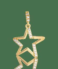 Pandant steluta din aur galben de 14K 7673