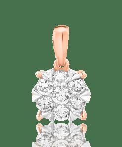 Pandant din aur roz de 18K cu diamante de 0.25ct 16506