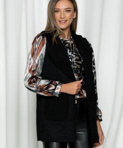 Vesta Misha neagra cu aspect de lana de oaie
