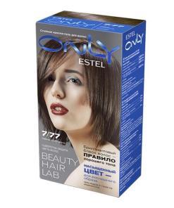 Vopsea-gel permanenta pentru par Estel Only, 7/77 Blond maro intens, 115ml
