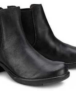 Chelsea-Boots Make von Fly London in schwarz für Damen. Gr. 36,37,38,39,40,41