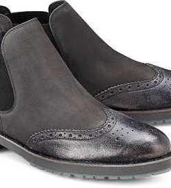 Chelsea-Boots von Paul Green in grau für Damen. Gr. 37 1/2