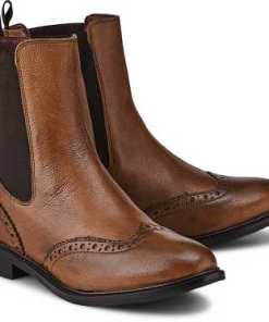 Chelsea-Boots von Cox in braun für Damen. Gr. 36