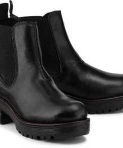 Chelsea-Boots von Ten Points in schwarz für Damen. Gr. 37,38,39,40,41