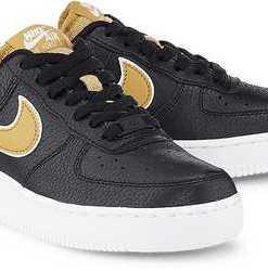 Air Force 1'07 von Nike in schwarz für Damen. Gr. 37.5,38,38.5,39,40,40.5,41