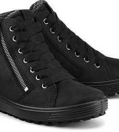 Sneaker Soft 7 von Ecco in schwarz für Damen. Gr. 36,37,38,39,40,41,42
