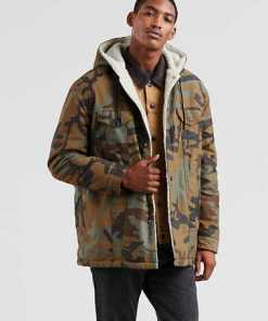 """Levi's® X Justin Timberlake Long Sherpa Hooded Trucker Jacket"""