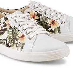 Sneaker Soft 7 von Ecco in weiß für Damen. Gr. 39,40,41