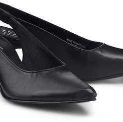 Sling-Pumps von Another A in schwarz für Damen. Gr. 37,38,39,40,41