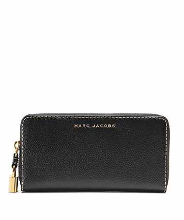 Marc Jacobs Damen Leder Schleifen Continental Wallet Schwarz