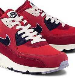 Air Max 90 Premium Se von Nike in rot für Herren. Gr. 40 1/2,42,42 1/2,45 1/2,46