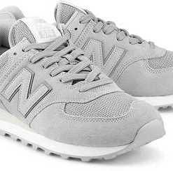Retro-Sneaker 574 von New Balance in grau für Herren. Gr. 42 1/2,43,44,44 1/2,45,45 1/2,46 1/2,47 1/2