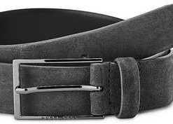 Leder-Gürtel Calindo von Boss in grau für Herren. Gr. 95 cm,100 cm,105 cm