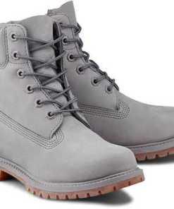 """""""Boots Premium 6"""""""" von Timberland in grau für Damen. Gr. 37,37 1/2,38,38 1/2,39,39 1/2,40,41,41 1/2"""""""