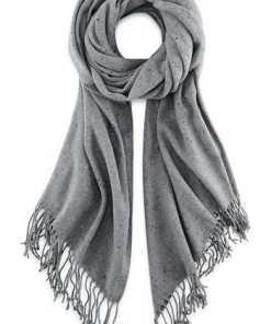 Fransen-Schal von Cox in grau für Damen