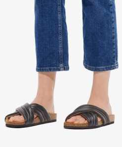 Bianco Überkreuzriemen Sandalen