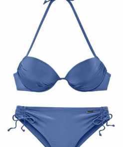 LASCANA Push-up-Bikini in glänzender Optik