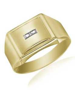 firetti Ring: Siegelring mit Diamant