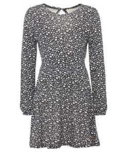 TOM TAILOR A-Linien-Kleid »Gemustertes Kleid mit Bindeband«