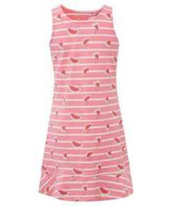 TOM TAILOR A-Linien-Kleid »Gestreiftes Kleid mit Wassermelonen«