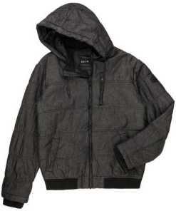 Herren Denim Outdoor-Jacke mit Kapuze