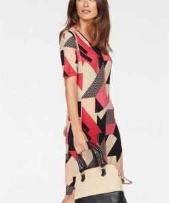 Laura Scott A-Linien-Kleid mit modischem Druckmuster