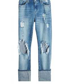 7 for all Mankind Straight Leg Jeans im Distressed Look
