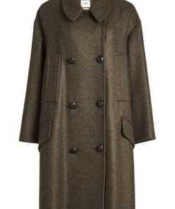 Isabel Marant Étoile Zweireihiger Mantel mit Wolle