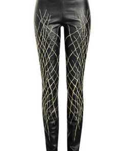 Haider Ackermann Bestickte Skinny Pants aus Leder