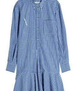 Isabel Marant Étoile Kariertes Hemdblusenkleid Ondria aus Baumwolle
