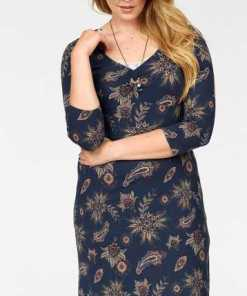 Boysen´s A-Linien-Kleid mit floralem Allover-Druck