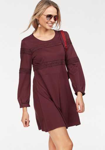 CLAIRE WOMAN A-Linien-Kleid mit Spitzen-Applikation