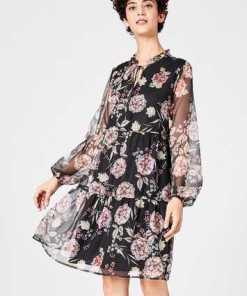 HALLHUBER A-Linien-Kleid aus Georgette