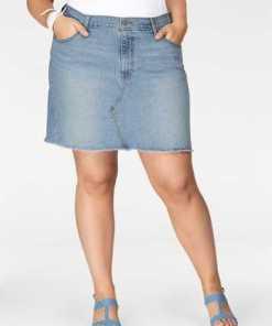 Levi´s® Plus Jeansrock »Plus Size Deconstructed Skirt« mit ausgefranster Rock-Kante