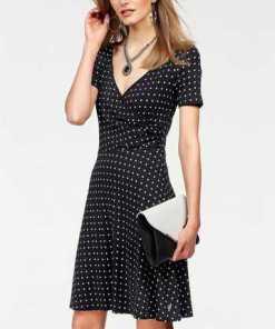 Bruno Banani A-Linien-Kleid mit Allover-Tupfen-Dessin