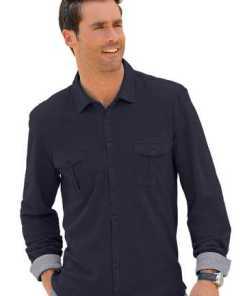 Marco Donati Langarm-Shirt aus reiner Baumwolle