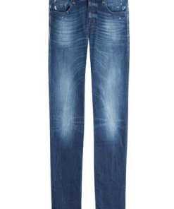 7 for all Mankind Straight-Leg-Jeans aus Baumwoll-Stretch
