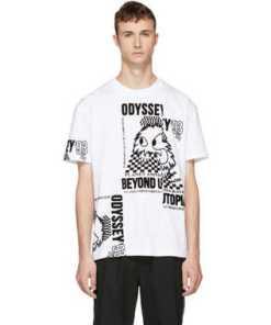 McQ Alexander McQueen White Patchwork T-Shirt