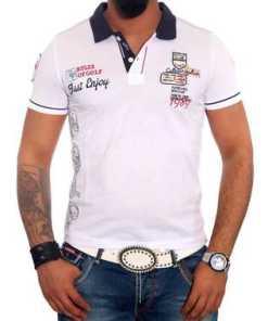 Rusty Neal Poloshirt mit stylischem Aufdruck »6688«