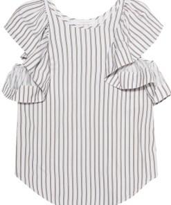 Cap Sleeves Striped Multicolor
