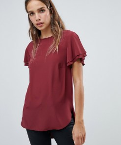 New Look - Seidig weiches T-Shirt - Rot