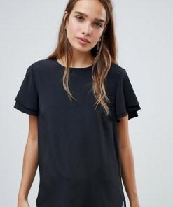 New Look - Seidig weiches T-Shirt - Schwarz