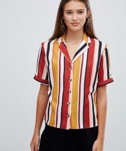 New Look - Unterschiedlich gestreiftes Hemd - Mehrfarbig