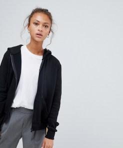 New Look - Kapuzenpullover mit Reißverschluss - Schwarz