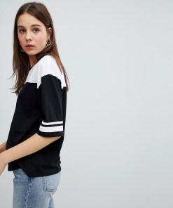 New Look - T-Shirt mit Blockstreifen - Schwarz